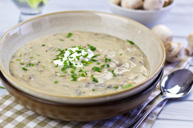 Supa crema de orez